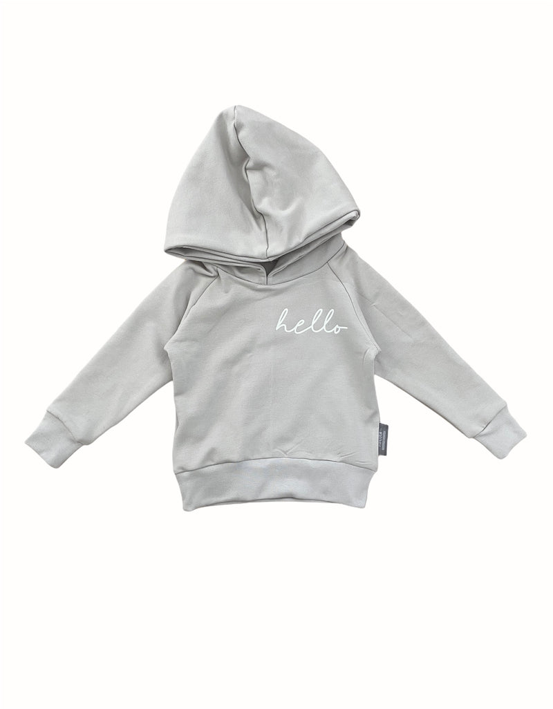 HOODIE SMALL PRINT LEFT SIDE SAND