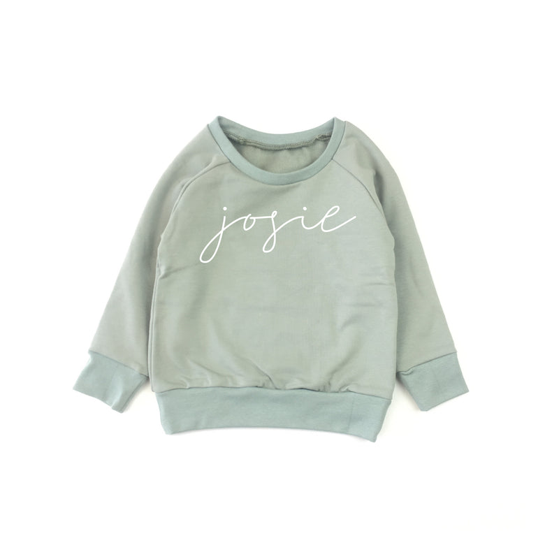 SWEATER PRINT DUSTY MINT