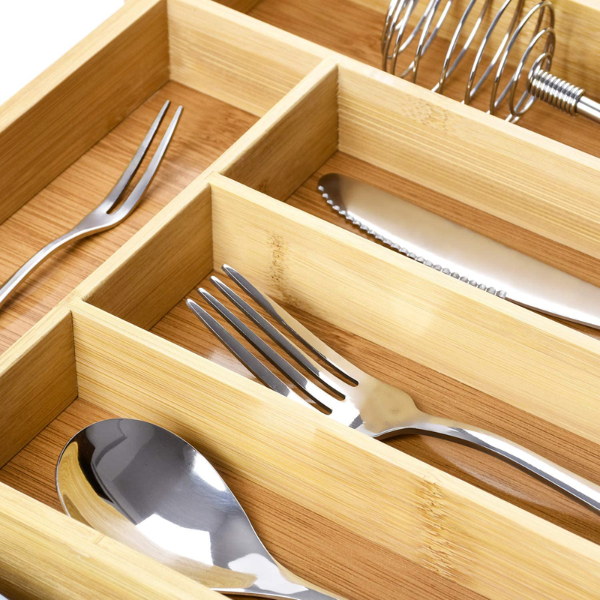 Shinrin Expandable Bamboo Flatware Tray