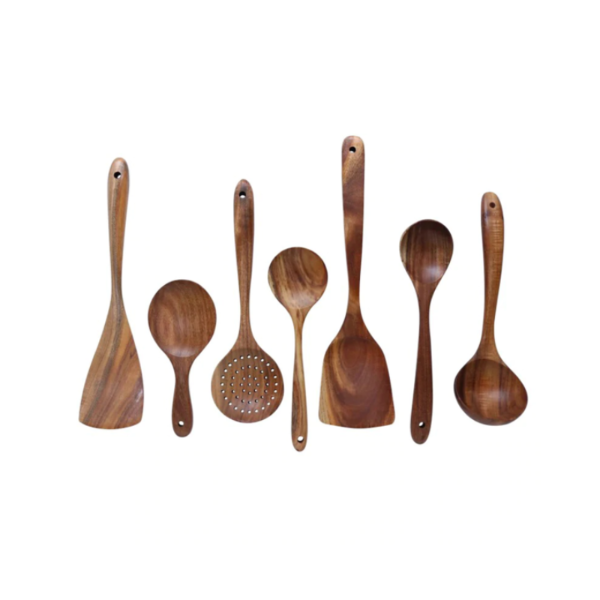 Mori Teak Wood Kitchen Utensil Set