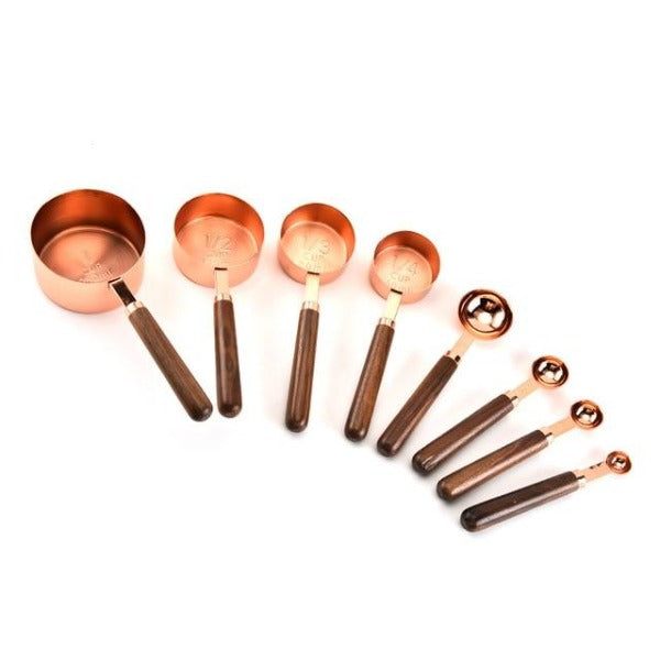 Rudo Rose Gold Stainless Steel Measuring Cup & Spoons