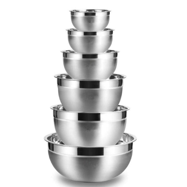 Kita Stainless Steel Mixing Bowls (Set of 6)