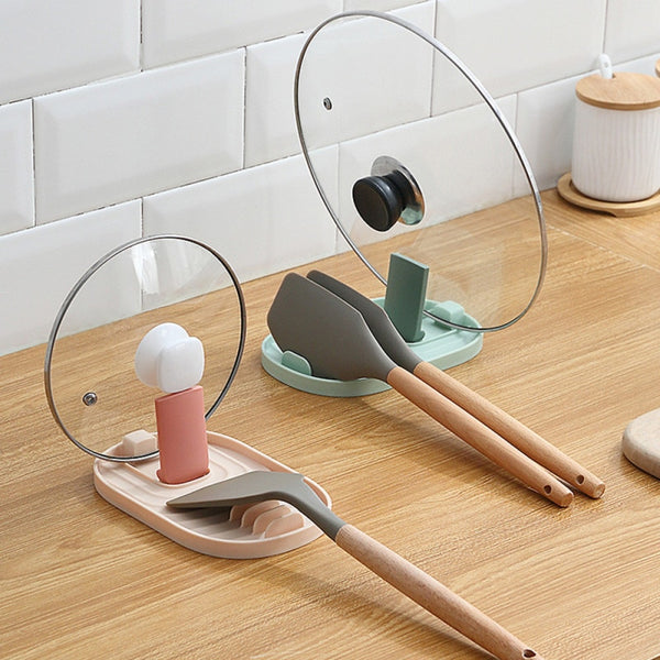 Tsuru Utensil and Pot Lid Rest Holder
