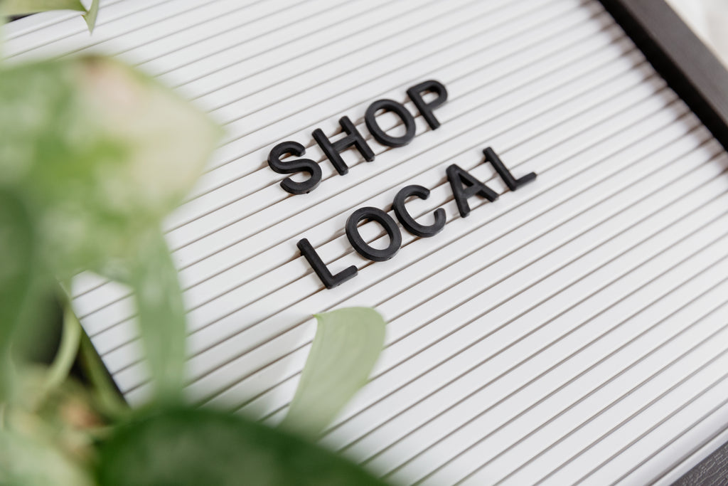 shop local letter board