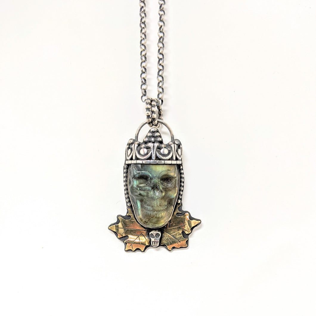 Royal Skull Labradorite Necklace