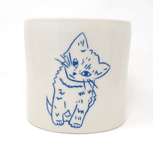 Load image into Gallery viewer, Reclamation Black Studios Kitten pot blue