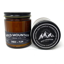 Load image into Gallery viewer, Wild Mountain Wax Co. Ember & Plum Soy wax candles 8OZ
