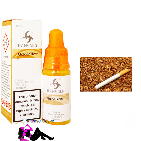 Gold & Silver Tobacco Flavour E-Liquid / E-Juice 10ml - Hangsen Atom Series
