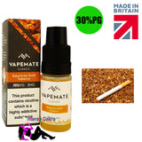 American Gold Tobacco E-Liquid / E-Juice 10ml - VapeMate Classics