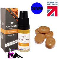 Butterscotch E-Liquid / E-Juice 10ml - VapeMate Classics