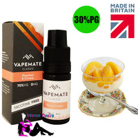Peaches & Cream E-Liquid / E-Juice 10ml - VapeMate Classics