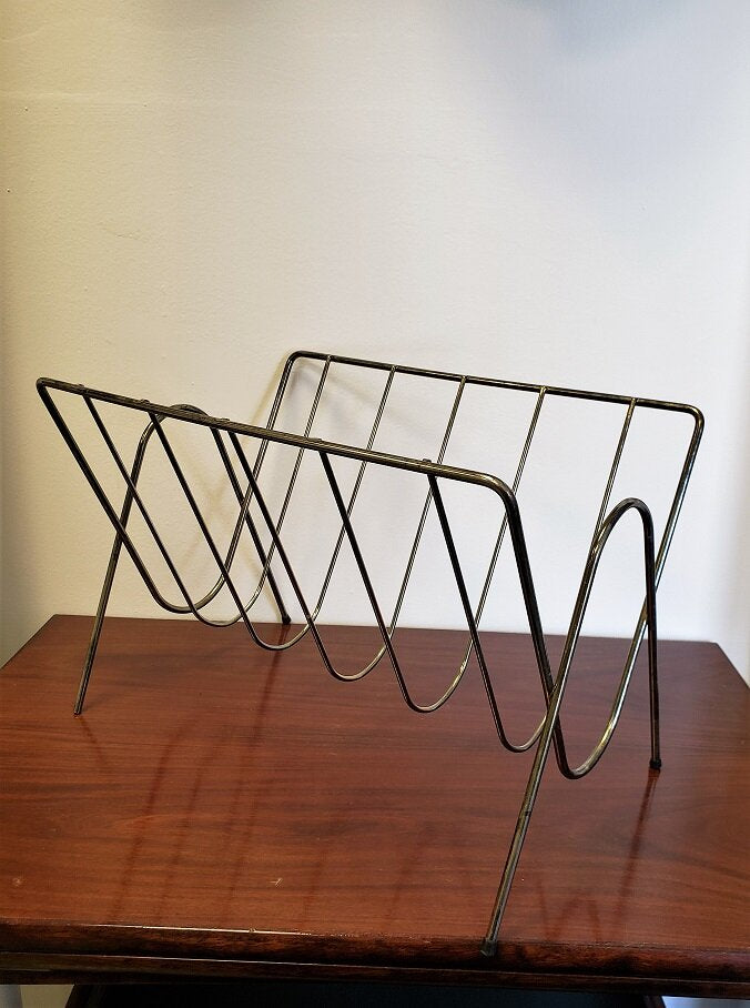 Brass Wire Magazine Rack - 589