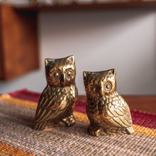 Load image into Gallery viewer, Brass Owls Pair - 731