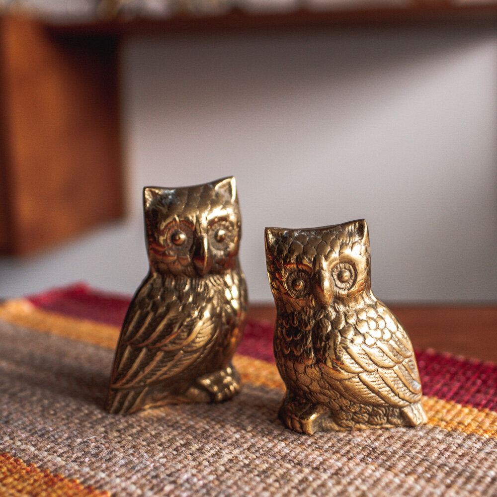 Brass Owls Pair - 731