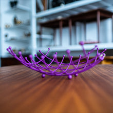 Load image into Gallery viewer, Purple Wire Fruit Basket