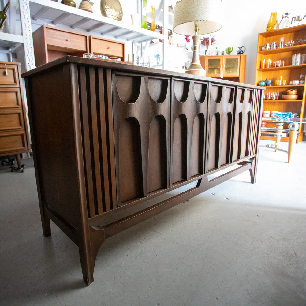 Walnut Sideboard (In Style of Broyhill Brasilia)