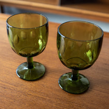 Load image into Gallery viewer, Green Goblets Set of 2