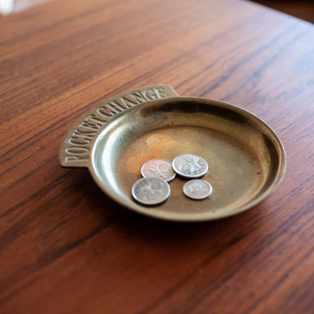 Brass Pocket Change Dish - 675