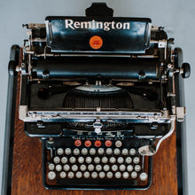 Load image into Gallery viewer, Remington Standard Typewriter 1920s (Black w/ white glass) - 064
