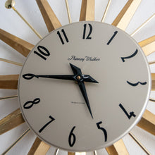 Load image into Gallery viewer, Phinney Walker Gold Starburst Clock - 883
