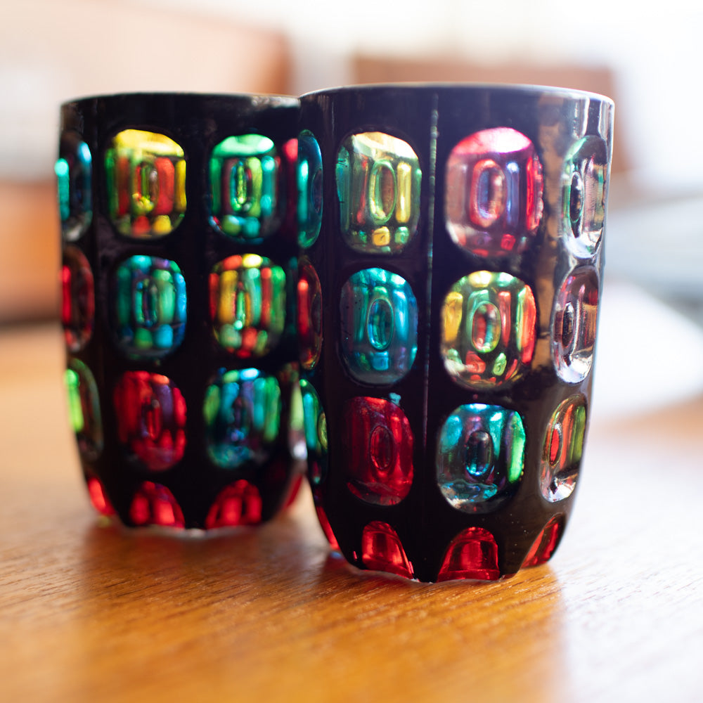 Mosaic Glasses - Made in Japan (Set of Two)