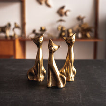 Load image into Gallery viewer, Three (3) Brass Cats - 129