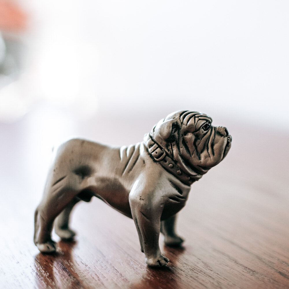 Pewter Bulldog Figurine - 523