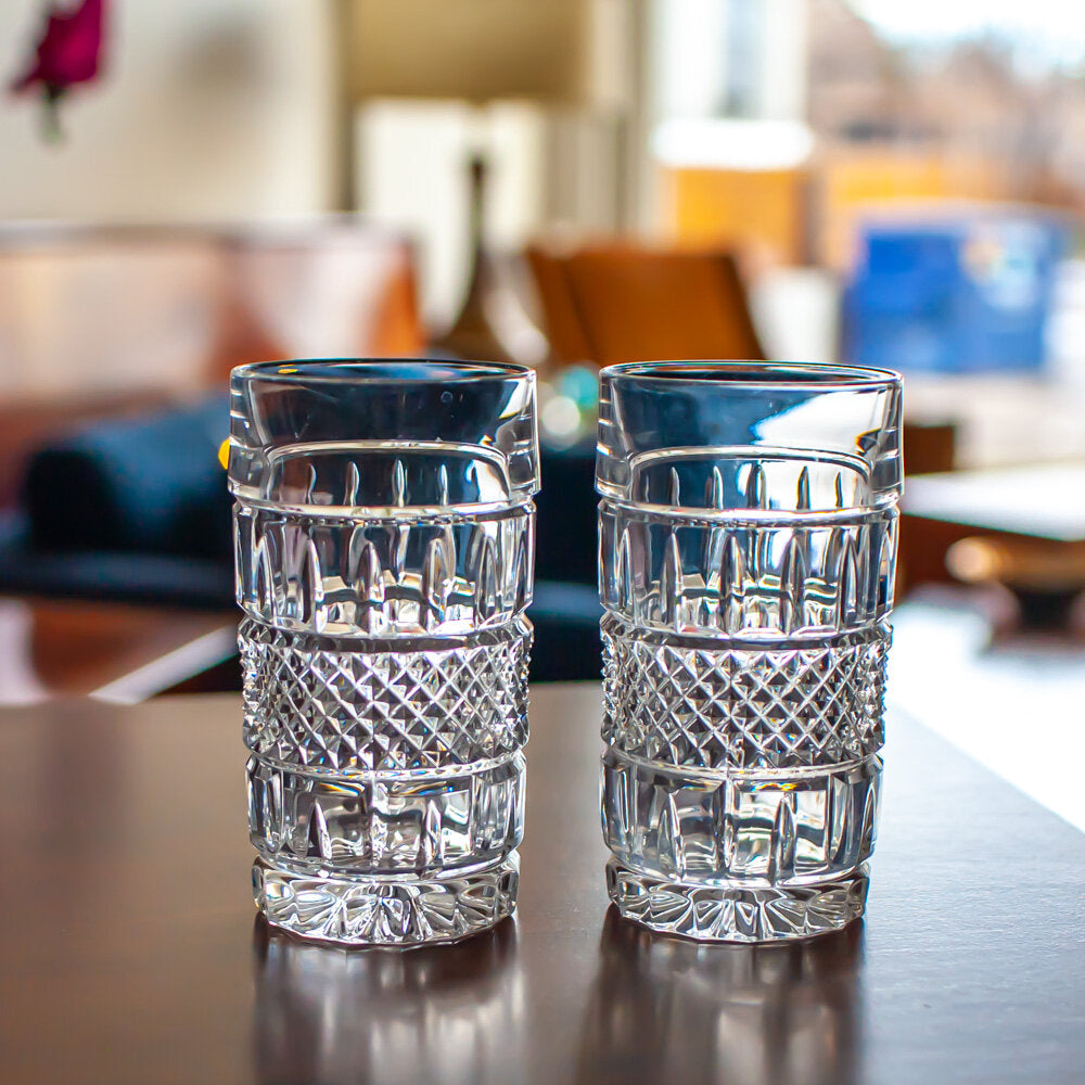 Set of 2 Crystal Highball Glasses - 744