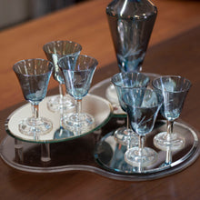 Load image into Gallery viewer, Decanter - 1970's Cornflower Decanter and 6 Glasses (Item #199)