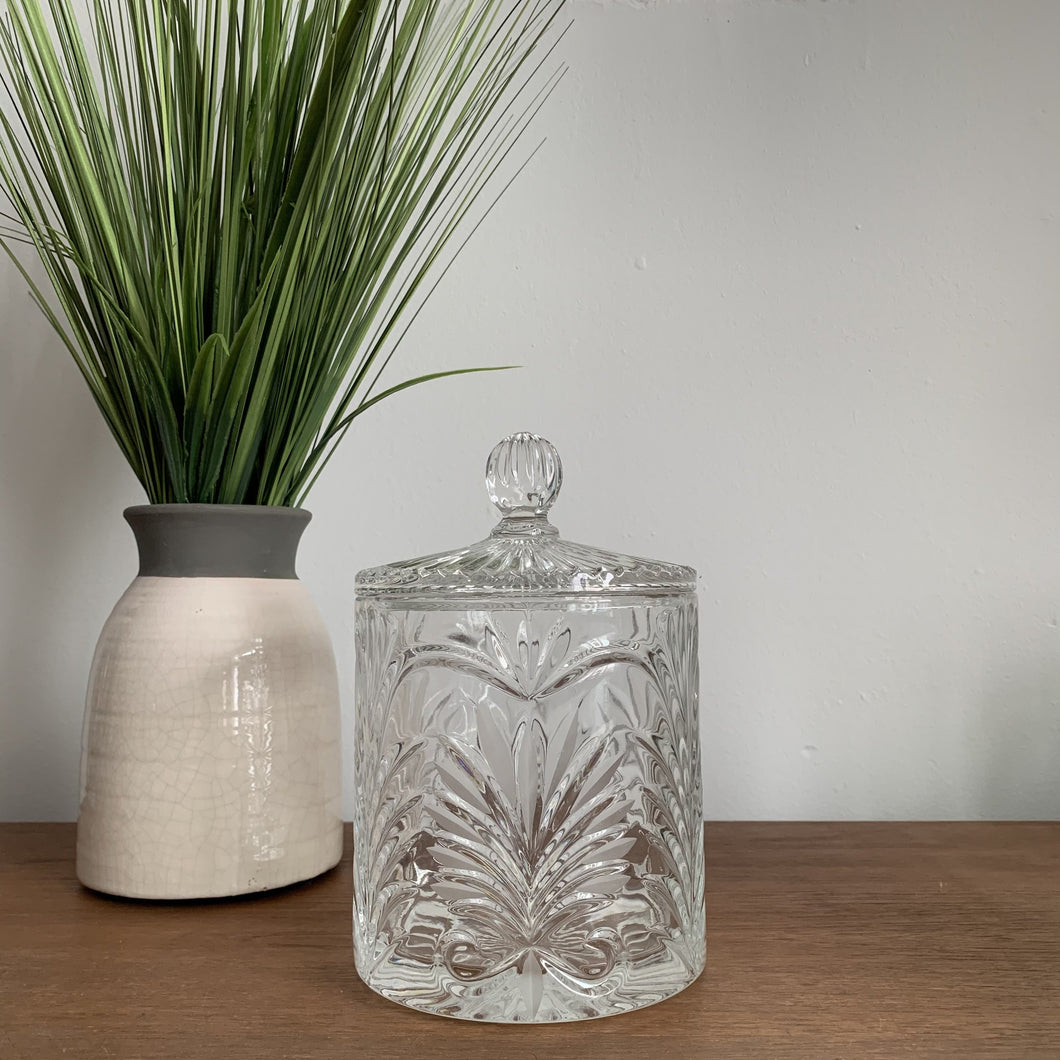 Vintage Crystal Jar with Lid
