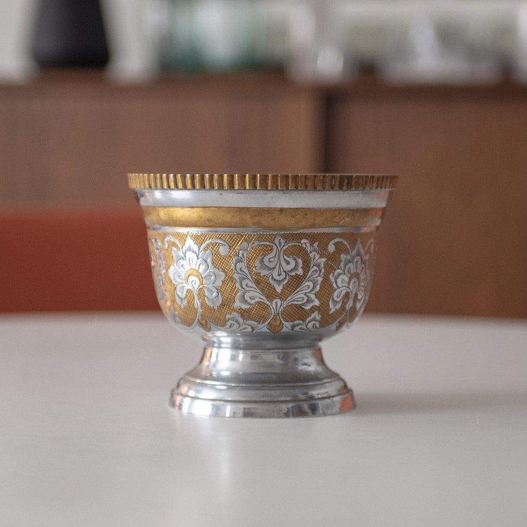 Etched Brass Chalice