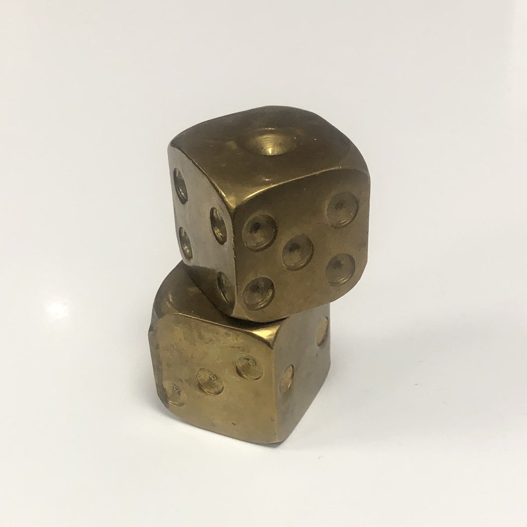 Brass Dice Pair