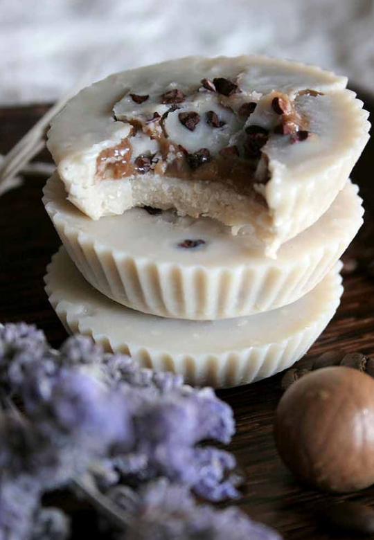 Totally Tahini Cups with Coffee Cream Filling