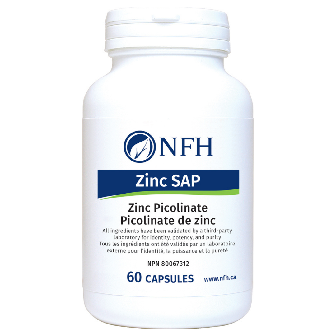 Nutritional Fundamentals for Health Zinc SAP 60 capsules