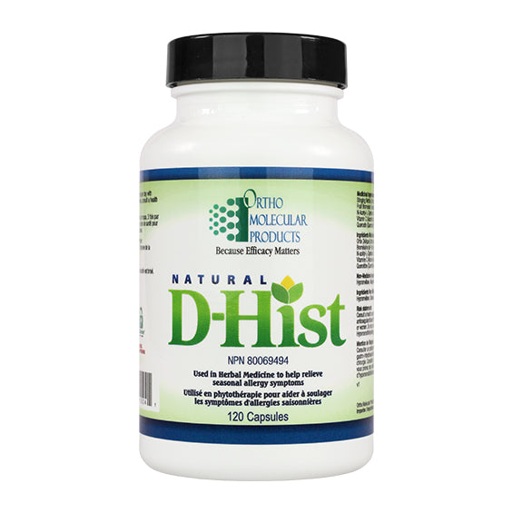 Orthomolecular Products Natural D-Hist 120 Capsules