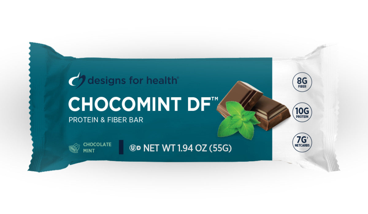 Designs For Health ChocoMint Dairy-Free Bar - Case of 12