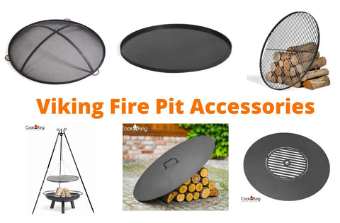 Collection of Cook King Viking Fire Pit Accessories