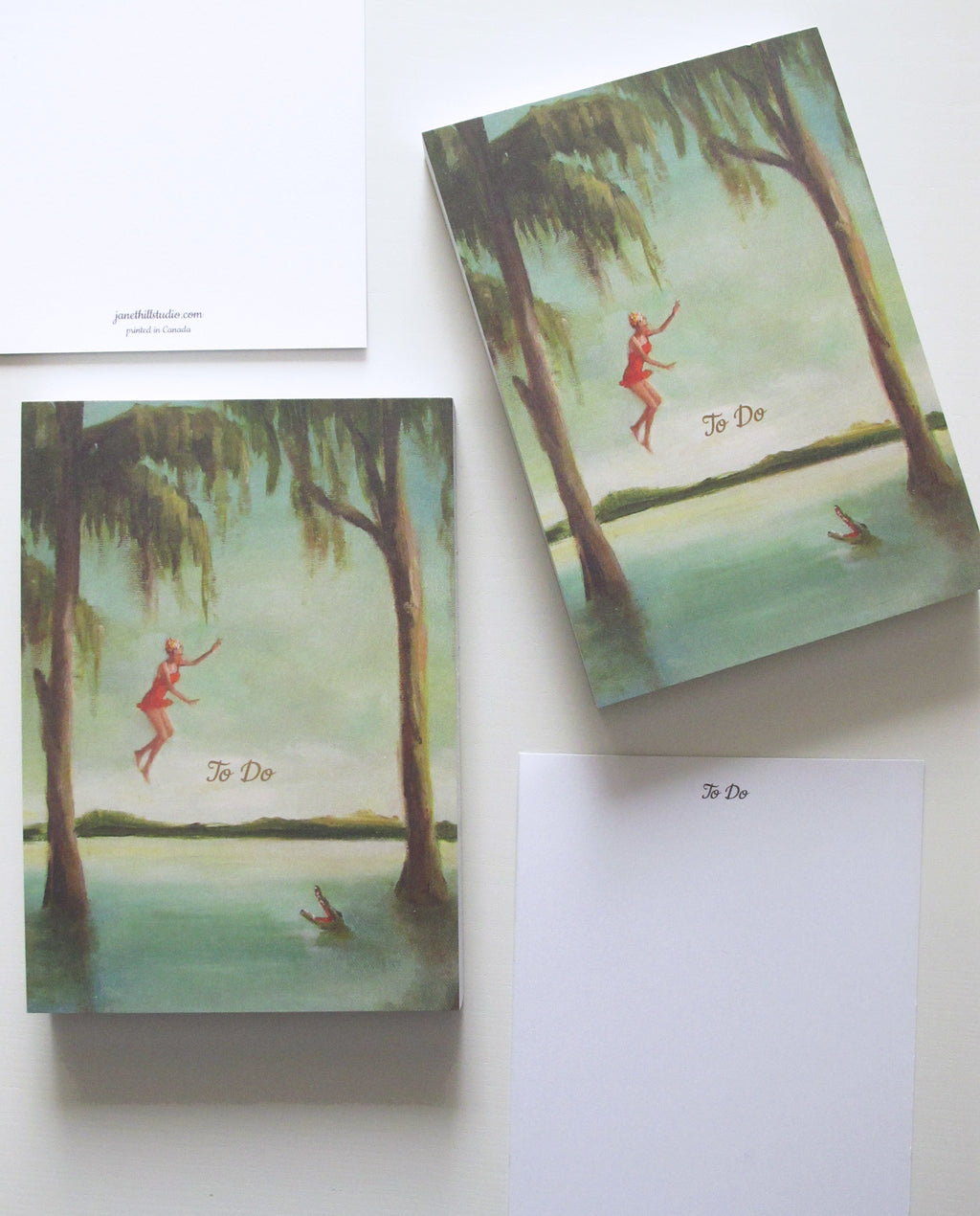 Janet Hill Studio - Crocodile Jumper 'To Do' Tear-away Notepad