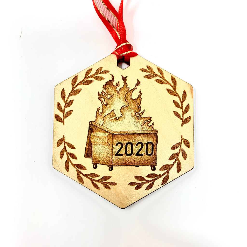 Insert Brand Here Shop - Christmas Ornament - Dumpster Fire 2020