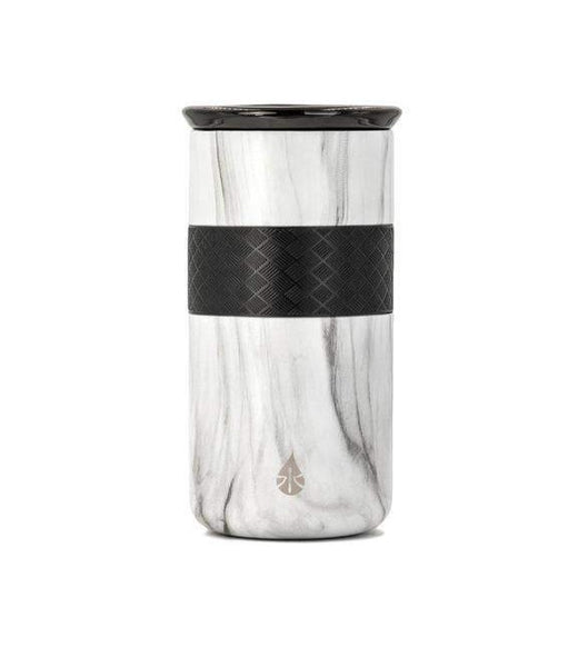 Elemental- 16 oz White Marble Tumbler with ceramic lid