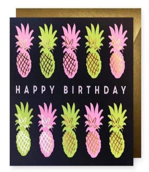 J.Falkner Cards - Happy Pineapples Birthday