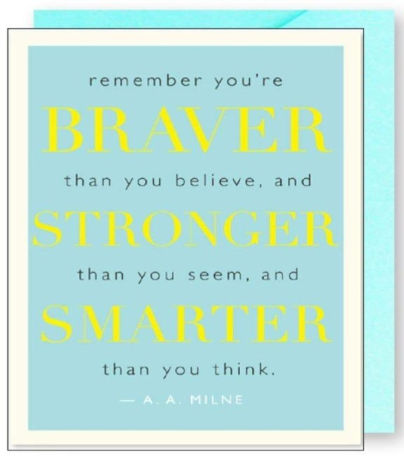 J.Falkner Cards - Braver Stronger Quote