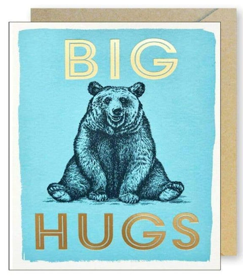 J.Falkner Cards - Gold Foil Big Hugs Bear