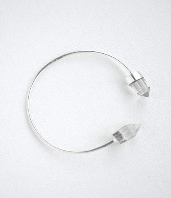Felix Z Designs- Double Crystal Point bracelet cuff