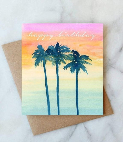 Abigail Jayne Design - Sunset Birthday Card