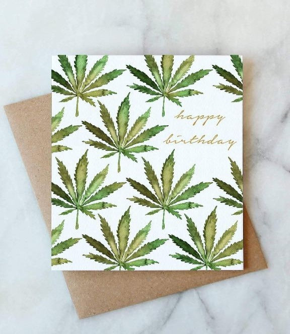 Abigail Jayne Design - Cannabis Birthday Card