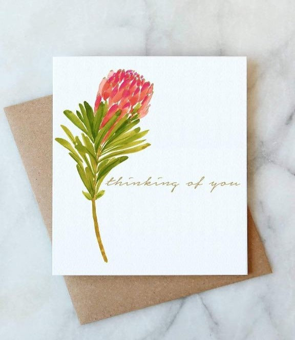 Abigail Jayne Design - Protea Thinking Of You Card