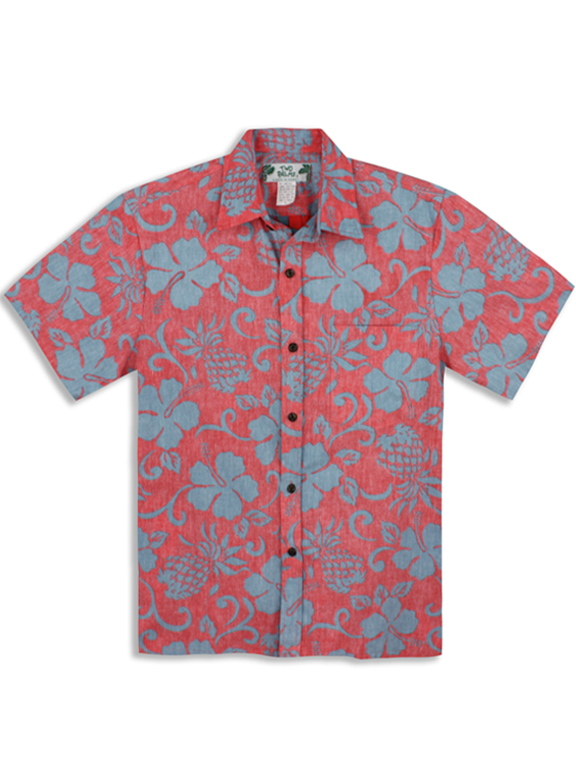 Two Palms- Pineapple Pareau mens cotton shirt