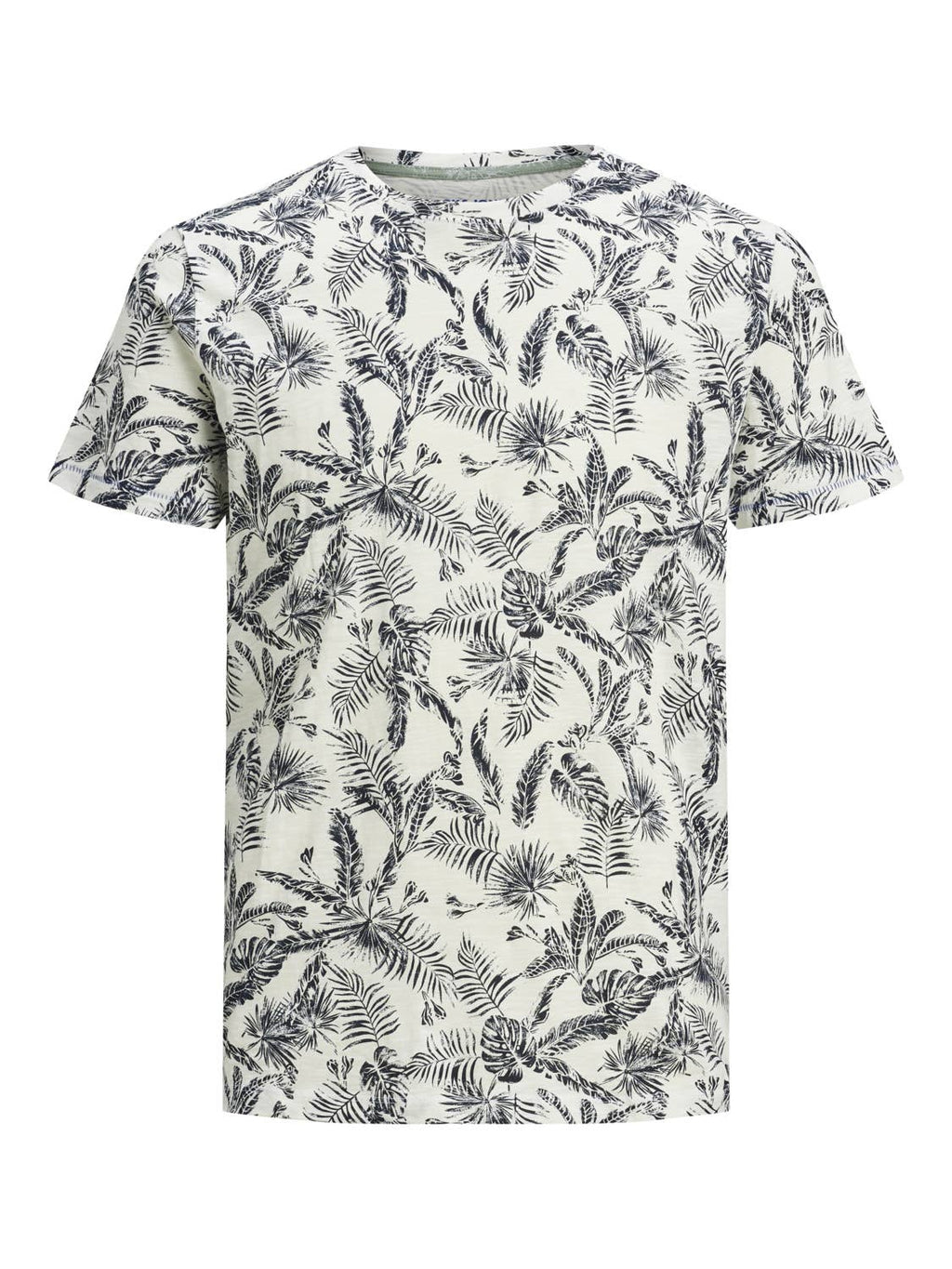 Jack & Jones - Mens Organic All Over Printed Crew Neck Tee Shirt