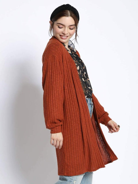 Sans Souci- Long Rib Knit Cardigan